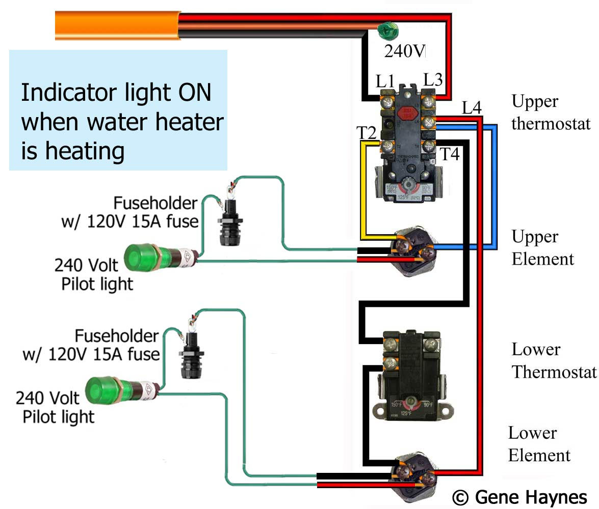water heater upper thermostat wiring diagram bradford