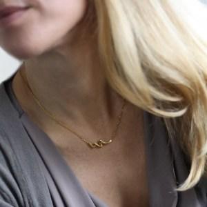 Waterkant Halskette aus Edelstahl