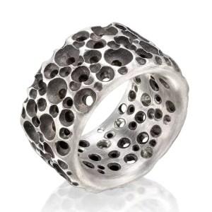 Ring Sponge aus Silber