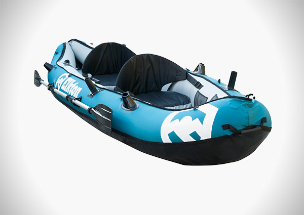 Elkton Outdoors 10' Foot Inflatable Tear Resistant Fishing Kayak