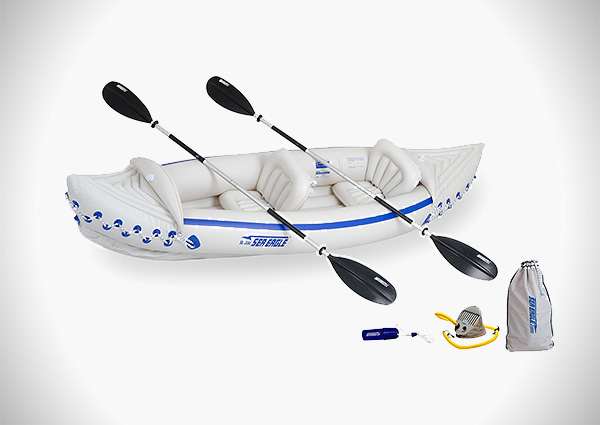 Sea Eagle 330 Inflatable Kayak with Deluxe Package