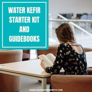 Water Kefir Starter Kit and Guidebooks for Beginners
