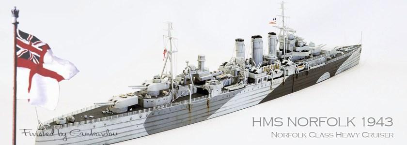 RN Norfork Class CA HMS Norfork