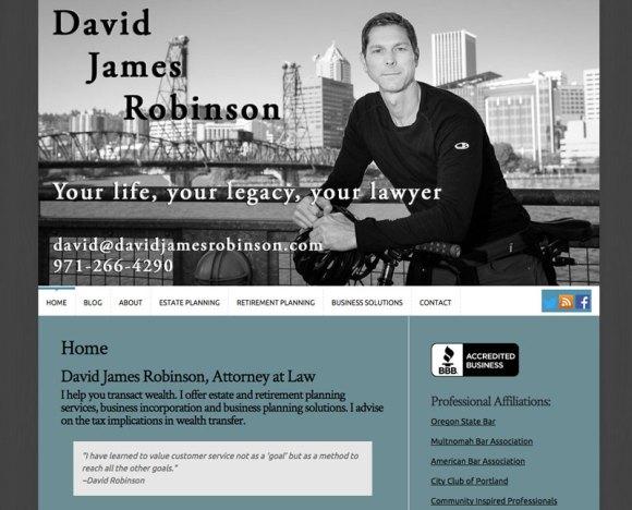 David James Robinson website by Waterlink Web