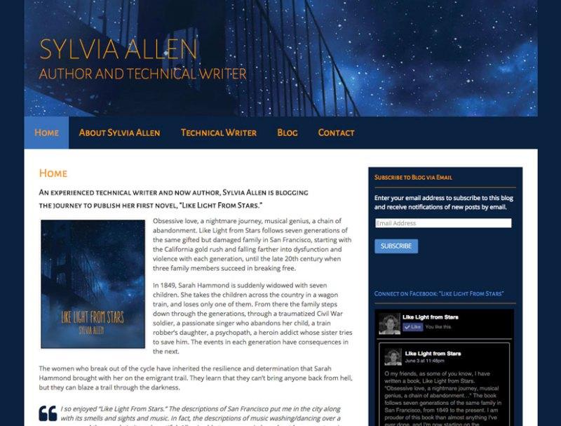 Sylvia Allen website by Waterlink Web