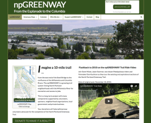 npGREENWAY website screensot