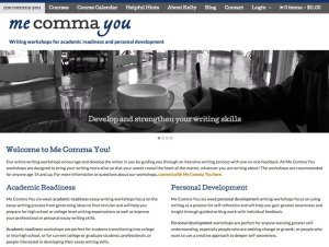 Screenshot of Me Comma You website