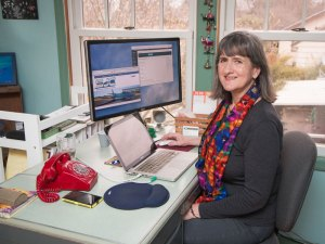 Mary Ann Aschenbrenner in her office at Waterlink Web