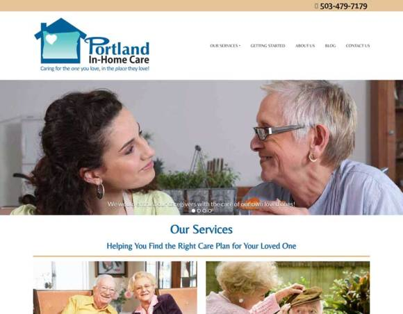 PDX In Home Care website