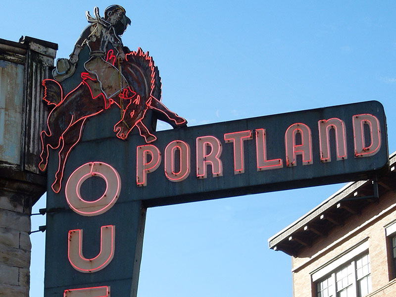 Portland Outdoor Store sign, picture by Waterlink Web Mary Ann Aschenbrenner