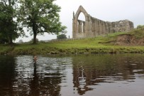 Swimming in the shadow of Bolton Abbey