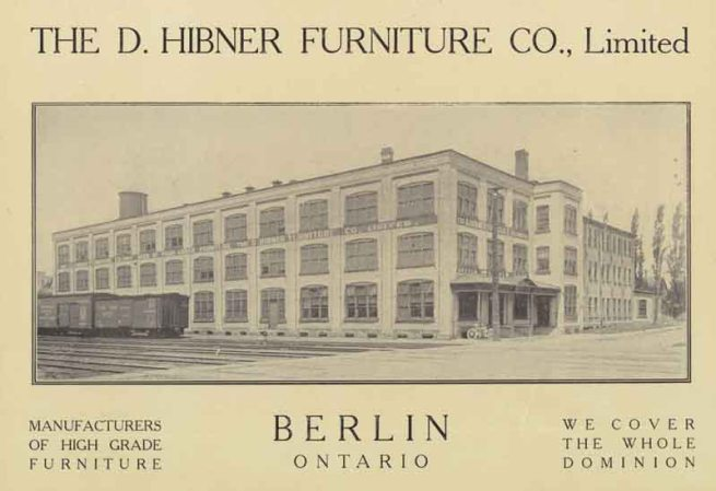 D. Hibner Furniture Co. Limited. From: Berlin Celebration of Cityhood - Issued by Authority of the City. Berlin Ontario, Issued in Commemoration of its Celebration of Cityhood July 17th 1912.