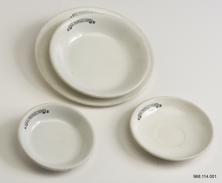 Dishes used at the Old People's Home; Source: Region of Waterloo Museum