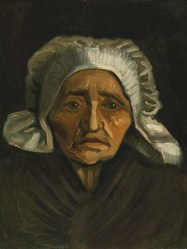 Head of an Old Peasant Woman with White Cap, 1884 by Vincent Van Gogh; Source: Public Domain, PD-1923