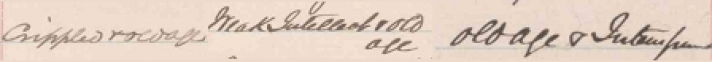 Register of Paupers, Vagrants, and Idiots received at the House of Industry and Refuge; Source: Region of Waterloo Archives