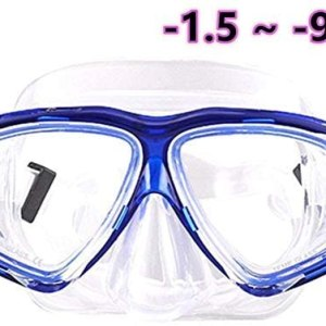 WOWDECOR Nearsighted Corrective Lens Snorkel Diving Mask