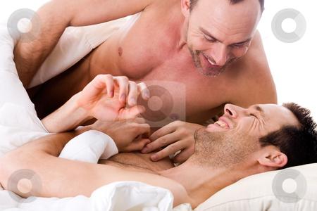 gay men cuddling