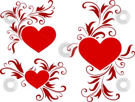 Romantic Hearts Valentines Day Design Background Stock Vector