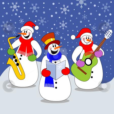 Snowmen Band Stock Vector