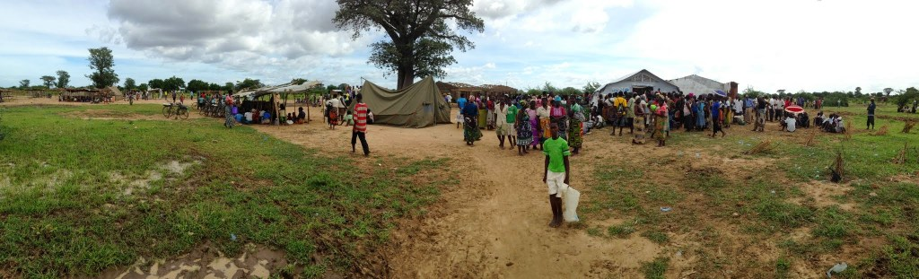 Displacement camp in Malawi