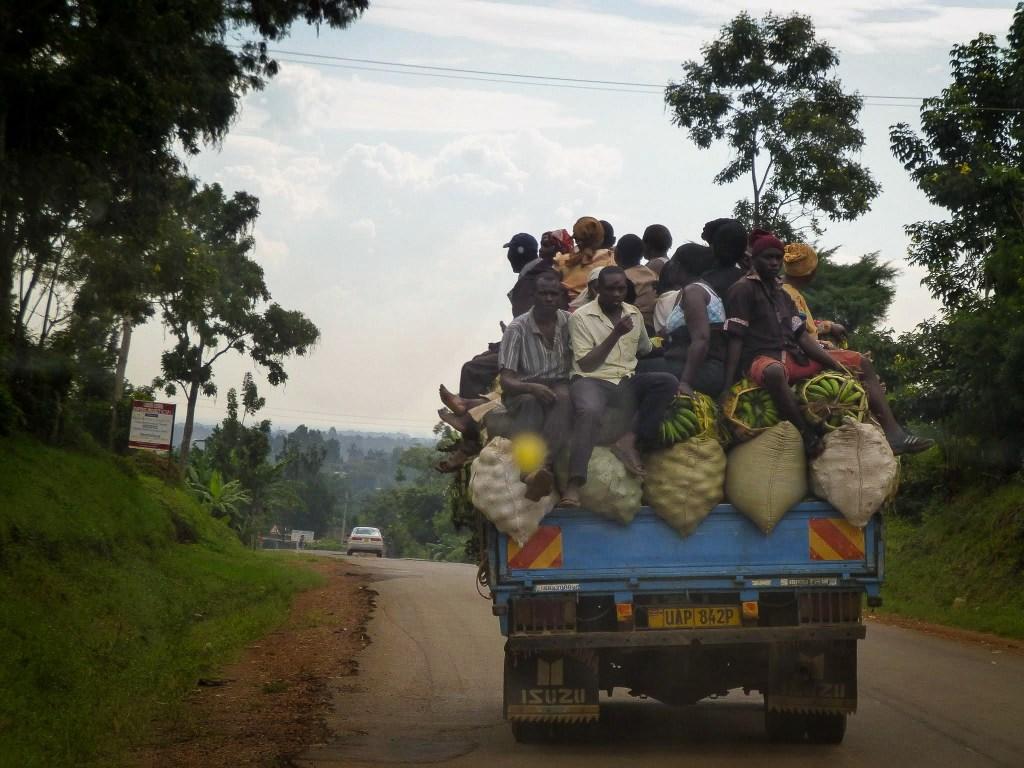 Driving the roads in Uganda