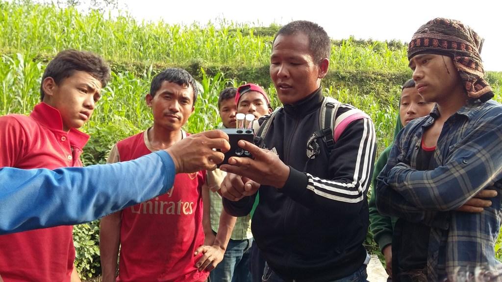 Suk teaching Keura | Nepal Earthquake