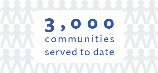 3000 Communities Served