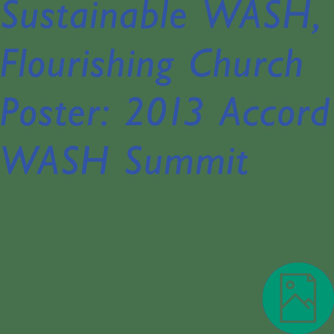 Sustainable WASH, Flourishing Church