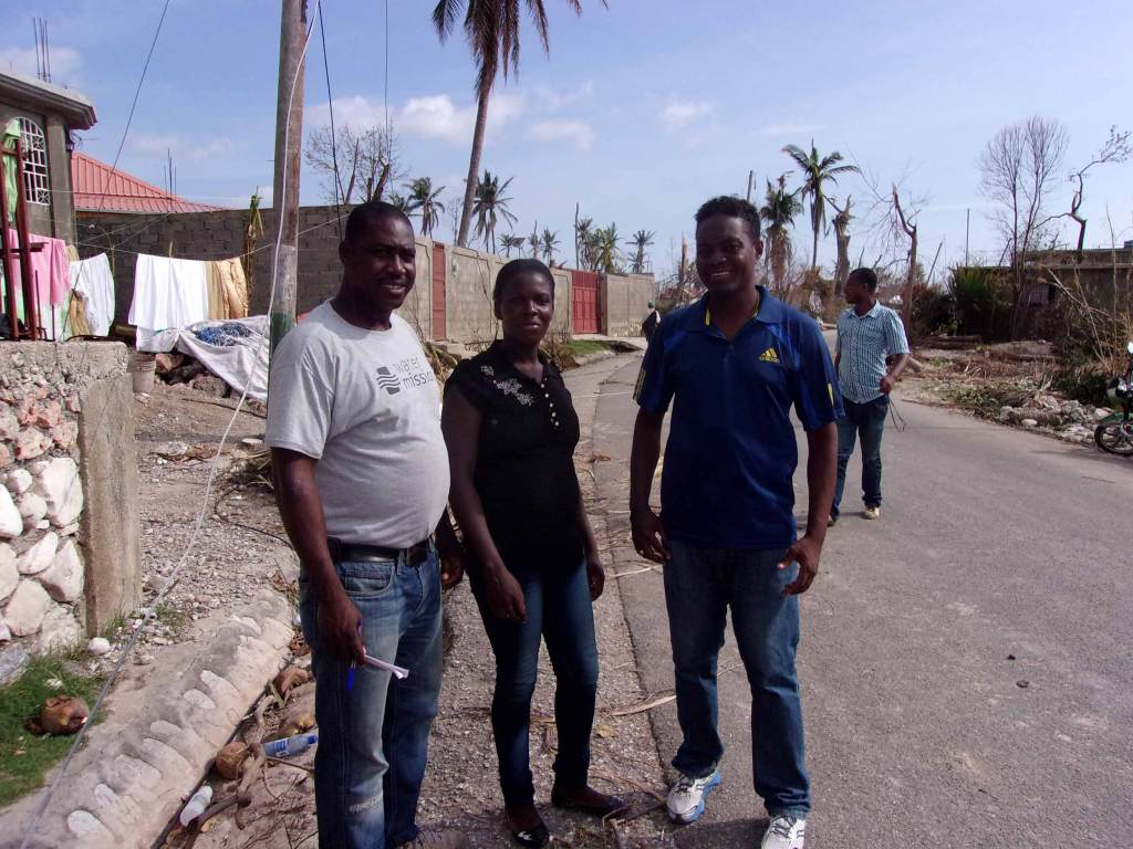 Water Mission Haiti staff assess damage in the southwestern region of Haiti.