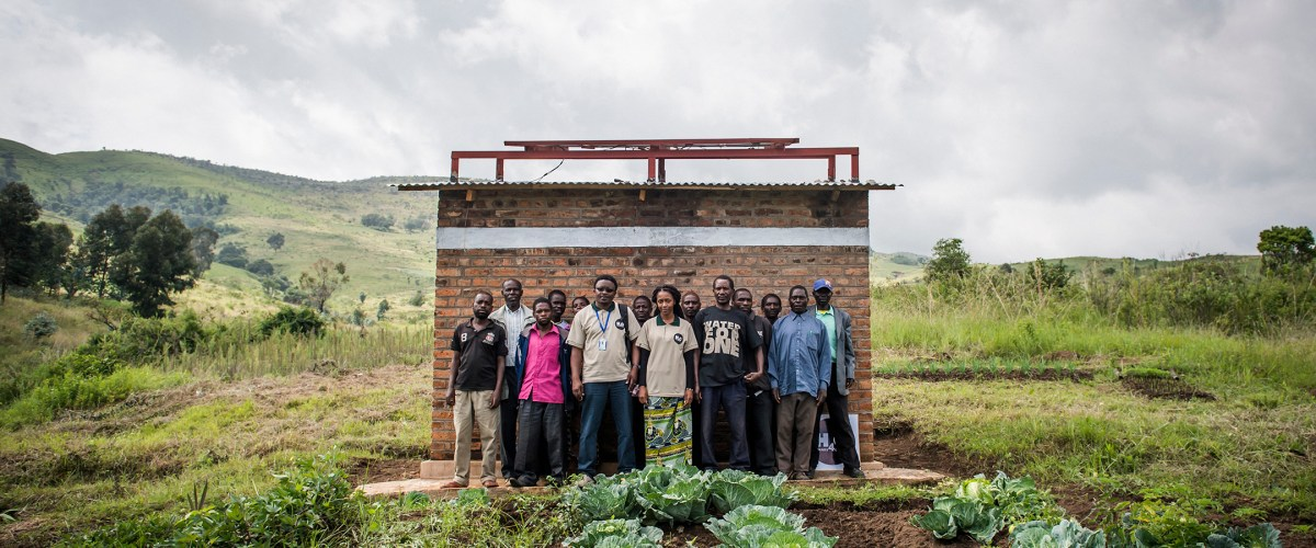 A Water Mission installation and surrounding community in Mlondwe, Tanzania, January 9, 2015