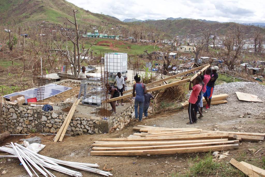 Water Mission Haiti team implements safe water systems.