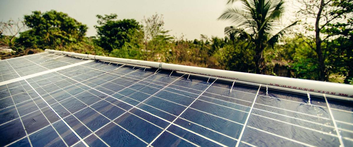 Solar panels in Mexico designed to be self cleaning.