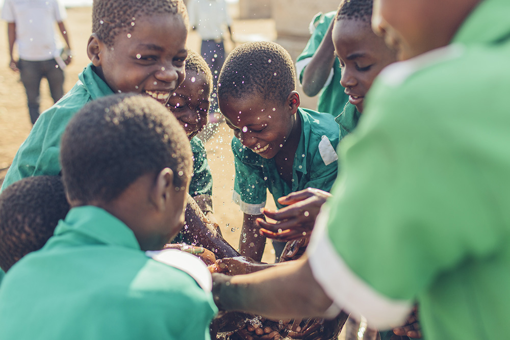 Students at Dina's school in Malawi enjoy safe water for the first time.