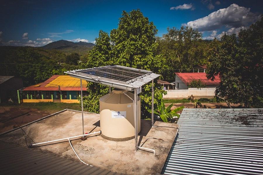 Safe water system in Barrio Bella Vista, Honduras.