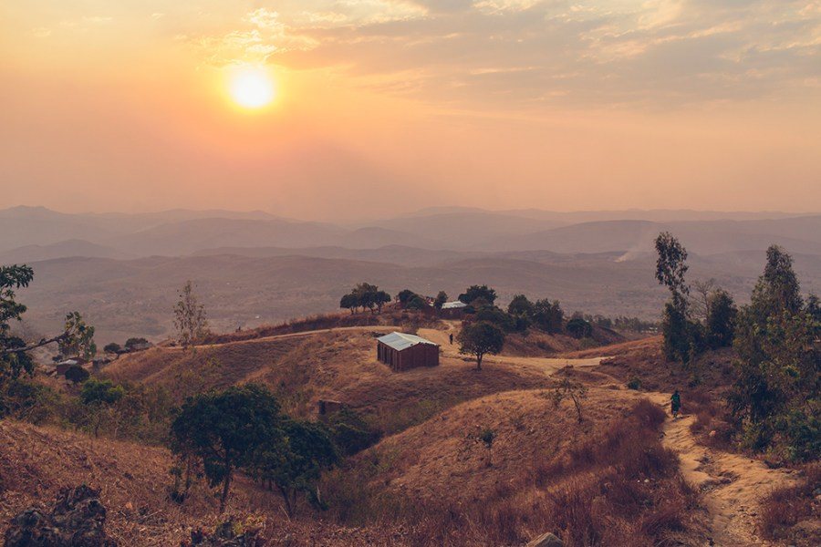 A beautiful, rural Malawi landscape.
