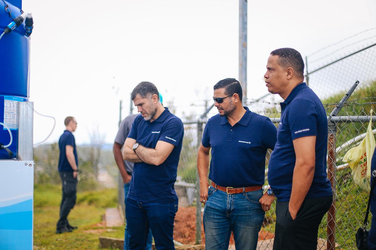 Grundfos team members in Puerto Rico