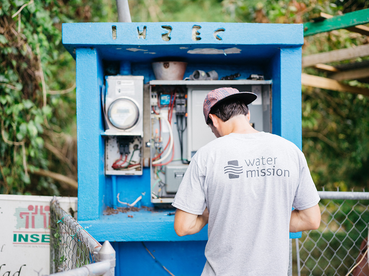 Water Mission engineers restoring power to rural communities.