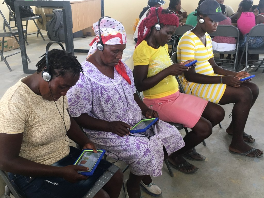 Restore Survey participants in Haiti