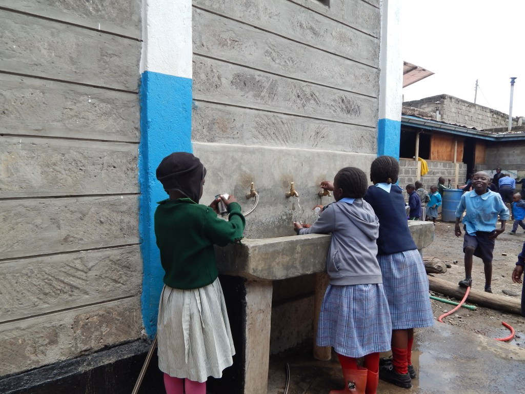 New water point within the school