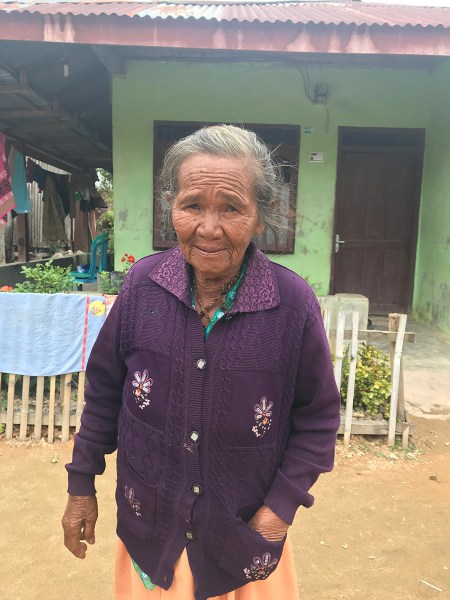 78-year-old Ms. Siregar's life was transformed by safe water in Huta Ginjang.