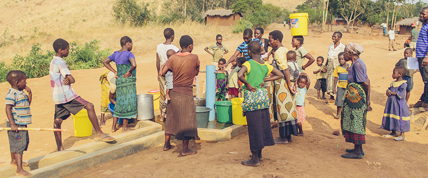 Safe water system in rural Malawi.