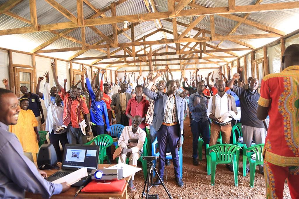 Worship during the program.
