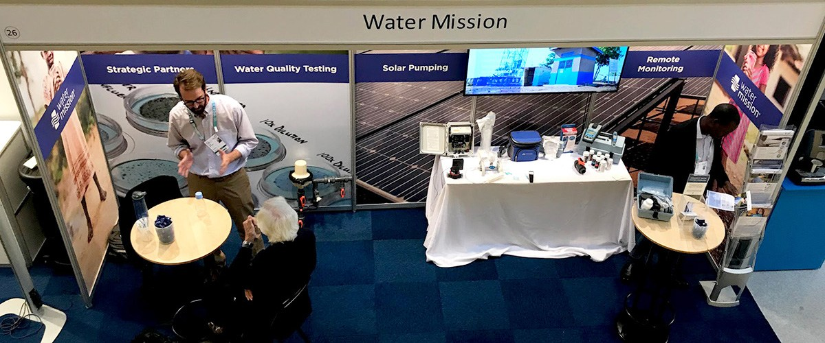 Water Mission's booth at SIWI World Water Week.
