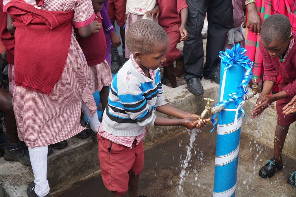 New safe water system in Enkereri!
