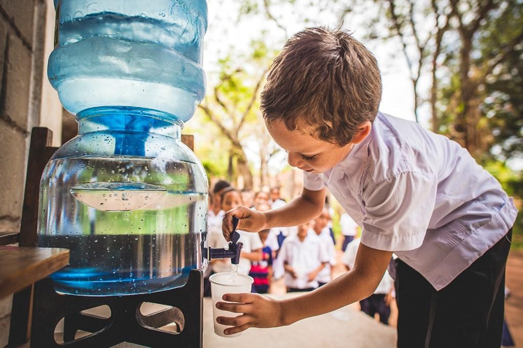 Safe water in Honduras.