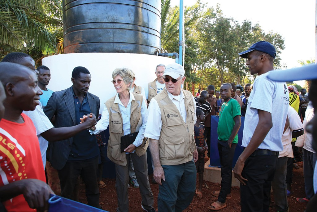 Molly and George visiting projects in Africa.
