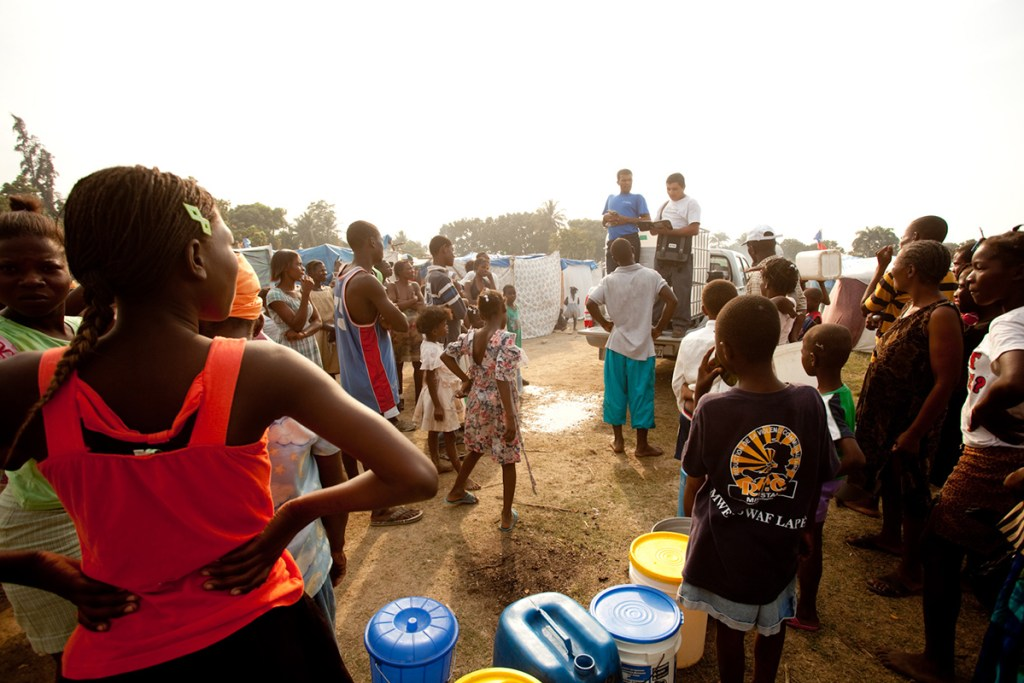 Distribution of safe water