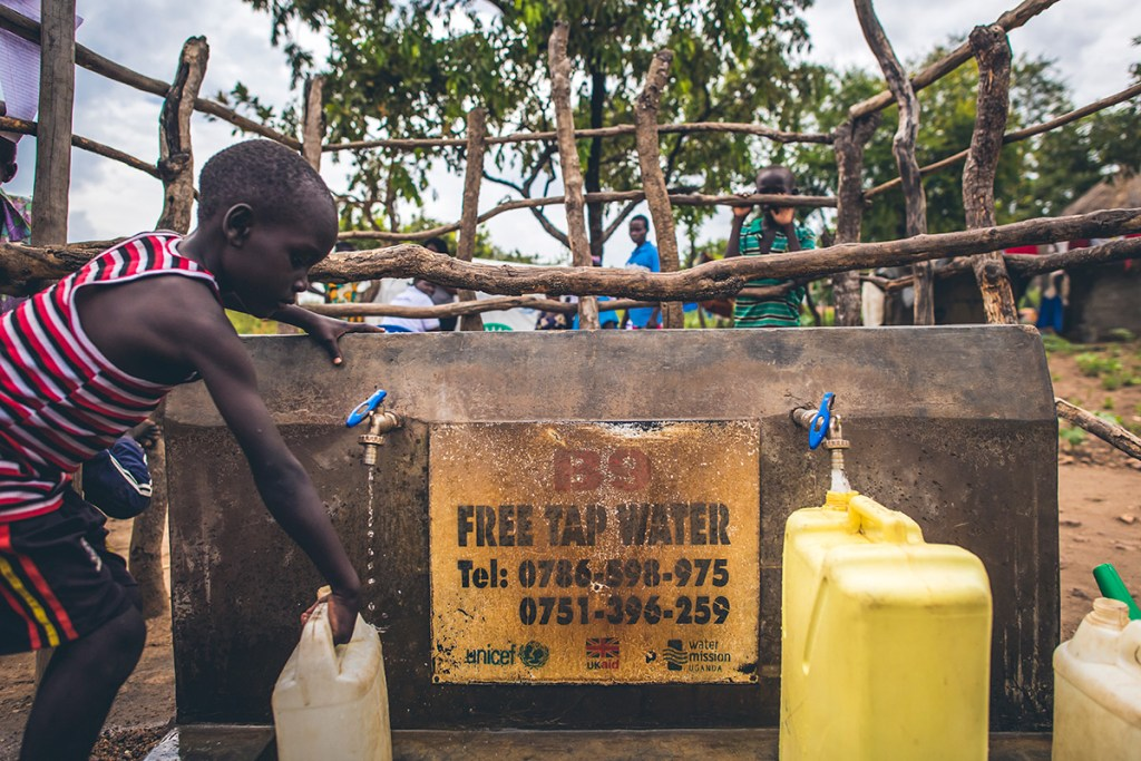 Safe water in Bidi Bidi refugee settlement
