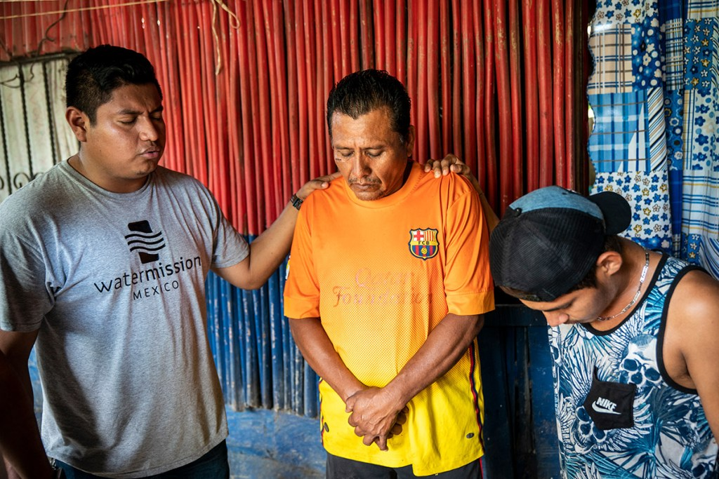 Raul and his son with Water Mission Mexico staff