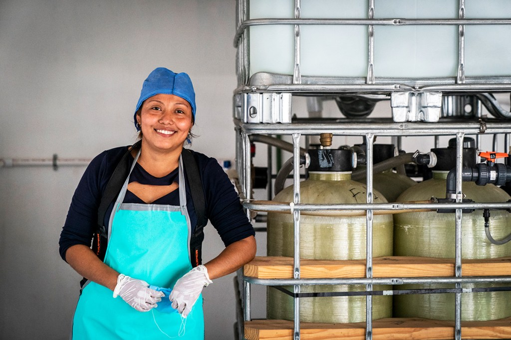 Faviola Mendez Estrada, safe water system operator in Guadelupe-Victoria, Mexico